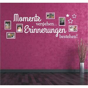 Wandtattoo Spruch Momente Sticker Bild Bilderrahmen Foto Wandsticker Aufkleber 3