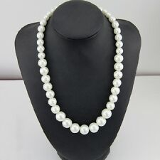 "18""  Dainty Large White Pearl Necklace Wedding Necklace, Bridesmaid Necklace"