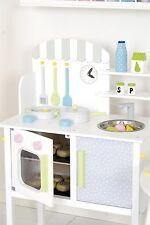 JaBaDaBaDo Kinder Spielzeug Küche Holz Weiß mit Zubehör