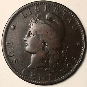 1889 Argentina 2 Centavos F