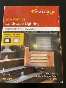 Malibu Deck light Black /Copper CL9054 C15