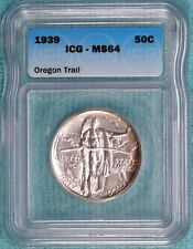 1939-P MS-64 Oregon Trail Early Comememorative Half 3,004 Minted Uncirculated #3