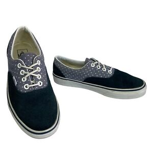"""VANS """"Off The Wall"""" Women's Classics Blue Suede Canvas Mix Low Tops Size 5 UK"""