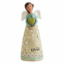 "SEPTEMBER Birthday Wish Angel, Celebrate Beauty, 4.25"" Tall, Studio by Demdaco"
