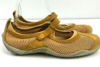 Merrell Mary Jane Walking Shoes Womens 7.5 Mesh & Suede Yellow Encore Strap