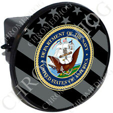 """2"""" Tow Hitch Receiver Cover Plug Insert for Most Truck & SUV - Ghost Flag Navy"""