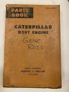 Caterpillar D397 engine parts manual. Genuine Cat book.