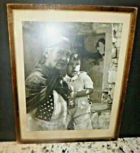 """1930s  L. H. CARR COLORADO NATIVE AMERICAN PHOTOGRAPH INDIAN- """" Family Ties """""""