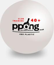 Table Tennis Balls 6 x 1-Star New Materials Plastic White XUSHAOFA