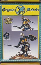PEGASO MODELS 54-096 - CENTRAL ITALIAN KNIGHT 1290-1300 - 54mm WHITE METAL NUOVO