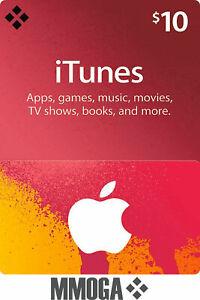 $10 US Dollar iTunes Prepaid Card - Digital Code - [US]