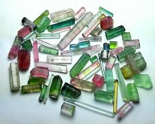 Bi and tri color tourmaline crystals for wrapping