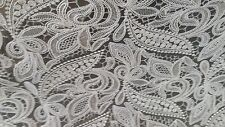 WHITE LACE SHEER DRAPERY FABRIC
