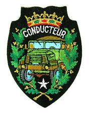 Ecusson brodé militaire ♦ (badge embroidered) ♦ CONDUCTEUR POIDS LOURD ARMÉE