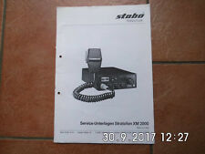 Stabo Service-unterlagen Stratofon xm 2000