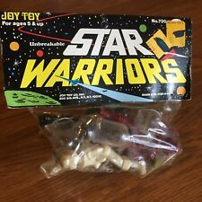 VINTAGE STAR WARRIORS PLASTIC SPACE ALIEN MEN WITH HELMETS SEALED JOY TOY AJAX