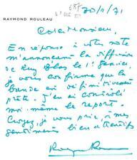 RAYMOND ROULEAU ACTEUR RÉALISATEUR ET METTEUR EN SCÈNE
