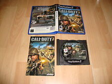 CALL OF DUTY 3 DE ACTIVISION PARA LA SONY PLAY STATION 2 PS2 USADO COMPLETO