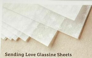 Stampin Up Sending Love Glassine Sheets 6 x 12 - New in Sealed Package 10 Sheets