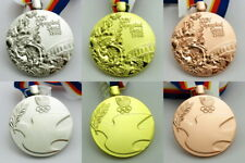 Seoul 1988 Olympic Medals Gold Silver Bronze with Ribbons 1:1 Full Size 60*6mm