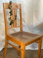 antik Jugendstil Holzstuhl Stuhl Holz Wiener Geflecht alt Sprossenstuhl