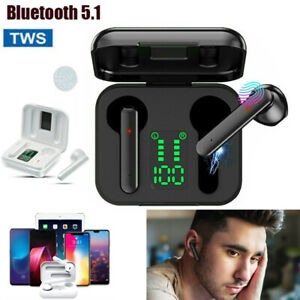 TWS Kopfhörer Bluetooth 5.0 In-Ear Ohrhörer 9D Sport Stereo Headsets mit Ladebox