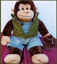 Build a Bear Smile Monkey Shimmery Tie Dye Hug Cheerful Baseball Glove Christmas