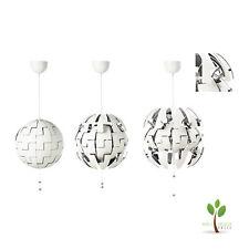 IKEA PS 2014 Hängeleuchte Weiß/silberfarben (35cm) A Deckenlampe Beleuchtung