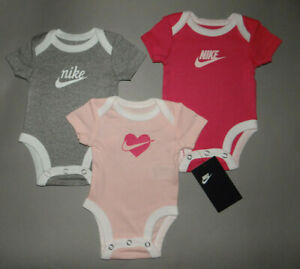 NWT, Baby girl clothes, 6 months, Nike 3 bodysuits/  ~~SEE DETAILS SIZE~~