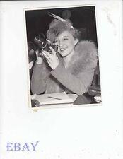 Sally Rand candid w/camera VINTAGE Photo