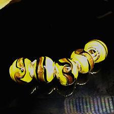 5pcs Silver MURANO GLASS BEAD LAMPWORK fit European Charm Bracelet  H,