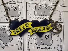 Hola Sailor Collar-Rockabilly Sailor Jerry Navy Tatuaje Premium Corazón Pin Up