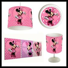 MINNIE MOUSE - Girls Bedroom in a Box - Lightshade, Lamp, Clock, Canvas Prints