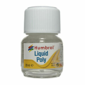 Humbrol Liquid Poly Cement Glue With Brush 28ml