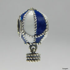 New Authentic Pandora Charm Away Hot Air Balloon Bead 791145 W Suede Pouch