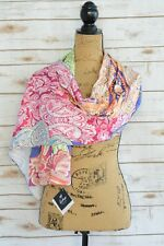 NWT Echo - Bright multi-color PAISLEY polyester scarf, One Size