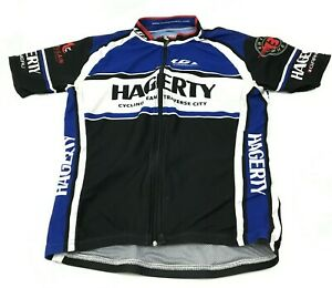 VINTAGE Louis Garneau Cycling Jersey Size Small Blue Shirt Short Sleeve Full Zip