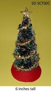 Decorated Christmas Tree With Matching Wreath DOLLHOUSE MINIATURES 1:12 SCALE