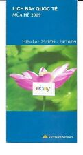 VIETNAM AIRLINES SYSTEM TIMETABLE 3-29-2009 LICH BAY QUOC TE 777-A321-A320-B737