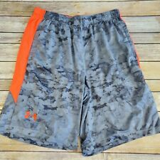 Under Armour Gray Camouflage Athletic Shorts Mens Size Large