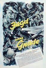 Original ~ Heinz Engelmann ~ Film Plakat UfA 1939/40 Poster ~ Jagd ohne Gnade ~