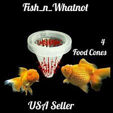 4Pc. Aquarium Basket Feeder Fish Food Live Worm Bloodworm Cone Feed -USA Seller-