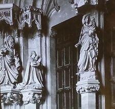 Main Portal, Chartreuse de Champmol, Dijon, France, Magic Lantern Glass Slide