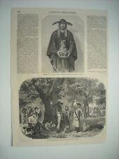 GRAVURE 1855. BEAUX-ARTS. ECOLE PERUVIENNE + ECOLE BADE ET NASSAU. LASO. KNAUS..