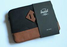 Herschel Heritage Zip Pouch Sleeve for iPad / iPad Air Black Brown NWT