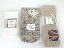Downton Abbey Lot Heritage Lace UK Flag Placemats, Cloth Napkins, Wine Bag