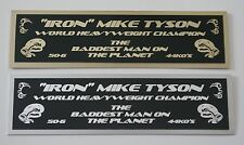 MIKE TYSON NAMEPLATE FOR SIGNED TRUNKS GLOVE PHOTO DISPLAY CASE
