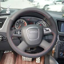 1 set Flexible Swede Leather Wrap Steering Wheel Cover Stitch on For Audi Q5
