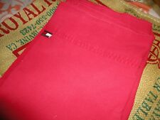 TOMMY HILFIGER CARDINAL RED TWIN FLAT SHEET 100% COTTON BOYS FADED