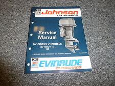 1992 Johnson Evinrude 90 Cross V 85-115 155 HP Shop Service Repair Manual